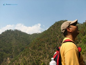 18. Binaya Aryal praying to gods on the sky