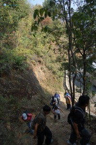 20. It is not easy for steep climb
