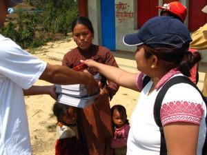 34. Distributing pencils copies to government school children has always been novel task