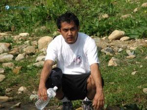 53. Hitesh Karki posing as resting
