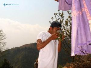 54. Hitesh karki sips the ambrosia amrit