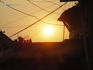 90. setting sun
