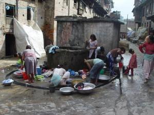12. Community laundry spot