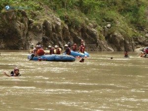 24. one of the raft has got really low air pressure