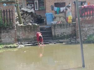 39. Is she fishing or washing
