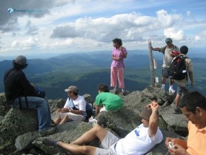 16. Cheerful relaxing moment at Mt Adams Top