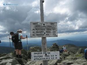 39. Mt Adams Peak USA now 4.3 miles to Applachia Madison hut