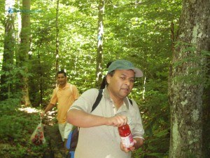 43. Purushottam Pandey is best hiker with juice for the trip