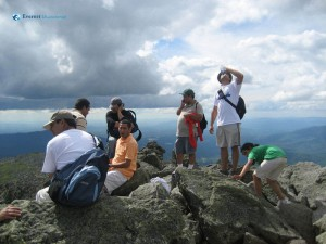 44. Quenching Thirst and doing business at Mt Adams top