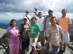 51. Smiling team At Mt Adams