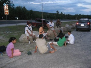 62. What a priviledge feasting alongside the highway at Mt Adams base USA