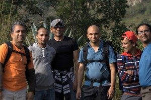 The Trekkers team after finishing first arduous uphill and Now Sushant joins to pose with the deerwalk Inc Team