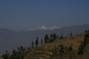 The blissful peaceful snow capped mountain sights and Deerwalk Inc team enjoys the scene