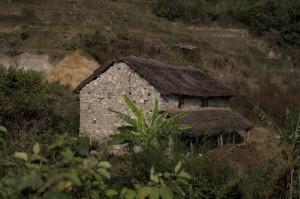 Typical Nepali Village Green Home