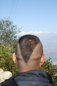 Inverted everest hair style