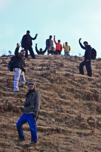 slowly we reached to the summit