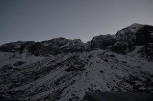 Sun set view towards north