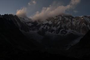 Dusk at mighty Annapurna III