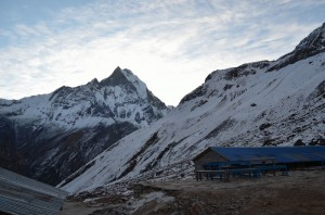 Morning view of Machhapuchhre from ABC