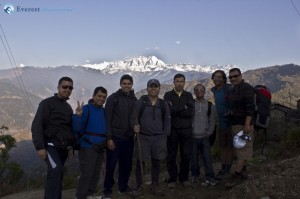 37. the view of the Himalayas was getting better and better and we made the most of it