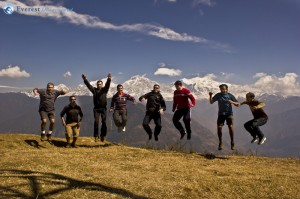 47.we reached to our destination and every one jumping