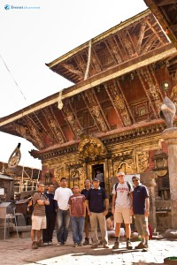 5. Group photo outside Changu Temple
