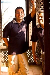 45. Suraj and Ishwor at Nuwakot Durbar...