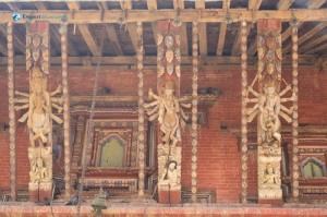 26. Hand made wood carved structure