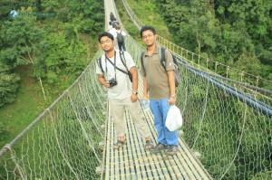 15. Suspending on the bridge