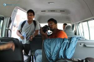 2. In the van