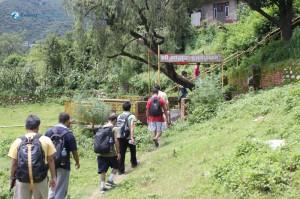 2. A shortcut through a temple