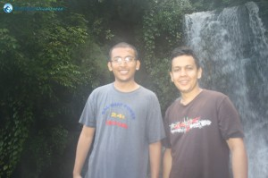 30. Smile in front of the waterfall