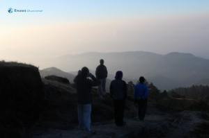 9. Aawart encouraging fellow hikers