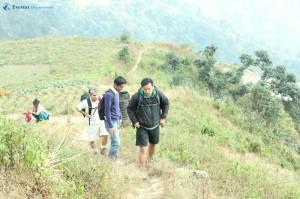 17. Narrow trails, Niraj Thapa in lead