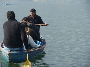 59. Boating pro Ram assisted by Designer Nimesh at Fewa Lake