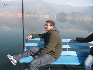62. Team leader Saroj Neupane in his own cool style
