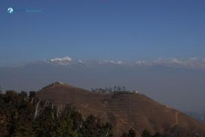 64. Horizon, where sky meets mountain.