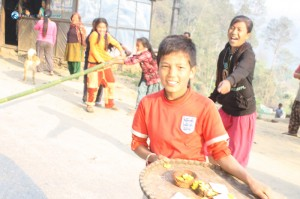 2. Nepali boy asking for Dakshina