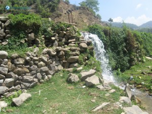 14. A ghatta (water powered mill)