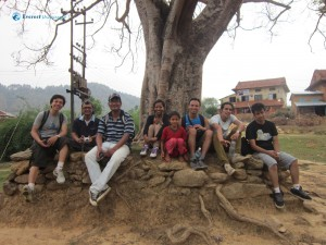 44. Group with cute little girl