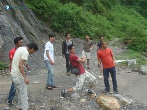 6. Skipping stones in Marsyangdi