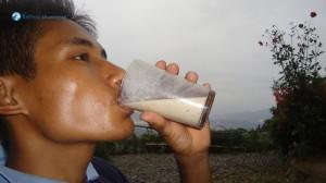 2. Deepak drinking cold lassi