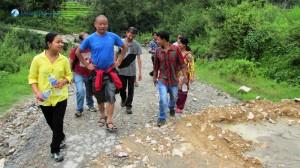 2. Hiking starts from Sankhu