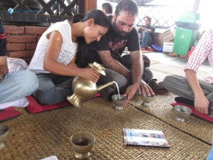 51.Rejina Pouring out traditional chyang