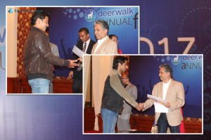 The most creative minds in Deerwalk: Subash Aryal and Shukra Shrestha won the Designers of the Year title