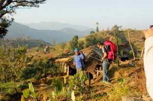 33. Surendra and Anadi off to another day of hiking to Kakani