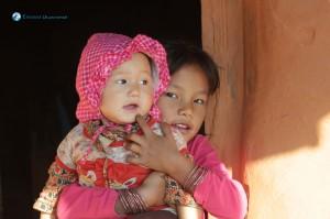 34. Sadikshya with her litlte sister Laxmi