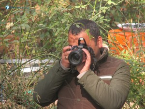 36. Shutterbug in front of the shutter