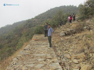 21. Climbing down from Champadevi temple