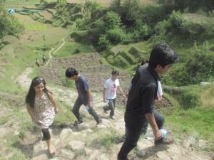 7. Climbing the lele hill